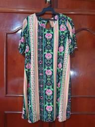 Vestido de malha de gestante.