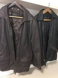 Casacos de couro (importado)