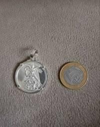 Medalhão de prata Baphomet templários