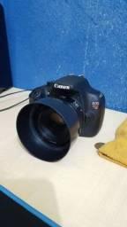 Canon T5 apenas 17mil clicks + Lente 18-55 + 50mm 1.8 STM na caixa + Tubo Extensor AF novo