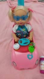 Título do anúncio: Boneca little Mommy Passeio com bolhas