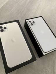 iPhone 11 Pro max 256gb Prata semi-novo com caixa e todos acessórios