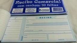 Recibo Comercial com Canhoto 50 folhas/ 2 Blocos