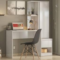 Escrivaninha Office Morada com Armário