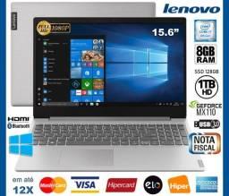 "Título do anúncio: Notebook Lenovo Core i7 8GB, SSD128+HD 1TB, Tela 15.6"", Geforce, Novo, Caix, NF, Gar Troco"
