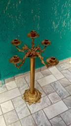 Castiçal em bronze para 5 velas
