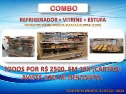 Combo - Refrigerador + Vitrine + Estufa