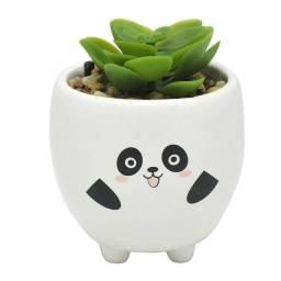 Título do anúncio: Mini vaso com suculenta panda e cachorrinho