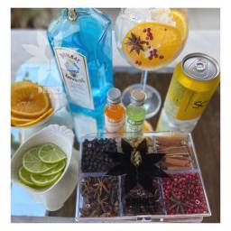 Kit com especiara para gin