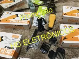 Promoção estoque limitado Máquina de cortar cabelo profissional com acessórios