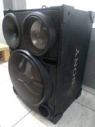 Caixas de som da Sony muito potentes