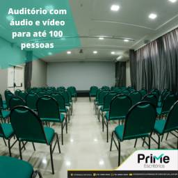 Auditório para até 50 pessoas com espaçamento