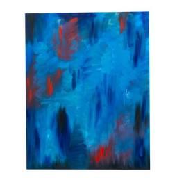 Chuvas de Março - Quadro pintura à óleo original - 70 x 120 cm