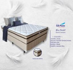 Título do anúncio: Conjunto Box Com Molas Ensacadas Nice POCKET (Entrega Grátis )