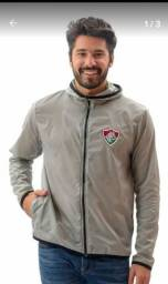 Título do anúncio: Jaqueta Fluminense New Force Corta Vento Braziline - Cinza<br><br>