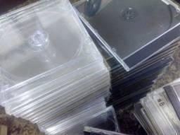 Lote com 154 Caixas Jewel Case para CD e DVD