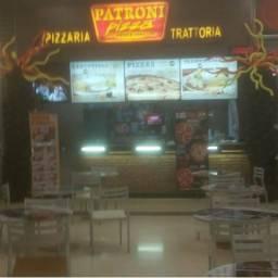 Pizzaria montada em shopping