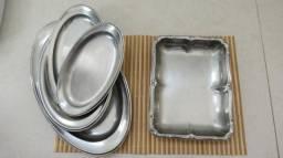 Usado, Conjunto de Bandejas Inox - 5 peças - Novo! comprar usado  Rio de Janeiro