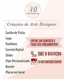 Criação de arte designer