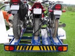 Reboque carretinha para moto leva até três (3) locação (aluguel) guinche voce mesmo