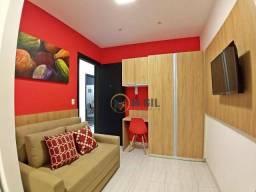 Apartamento com 01 dormitório, totalmente mobiliado, estilo hotelaria, Centro - Curitiba