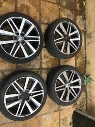 Jogo de rodas aro 22 com pneus