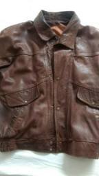 Jaqueta de couro vintage café racer