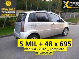 Idea 1.4 - 2012 _ Completo _ Unico Dono _ Financio 5 MIL de entrada - 2012