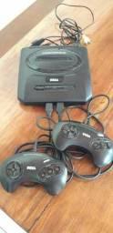 Mega Drive com 5 Jogos