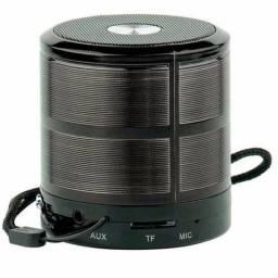 Mini caixa de som bluetooth preta