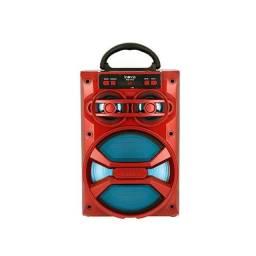 Rádio portátil Caixa De Som Móvel Bluetooth Wi-Fi- Vermelha - RAD-8116 - Inova