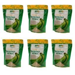 Título do anúncio: Kit 6 Farinha De Banana Verde 250g Pura 100%