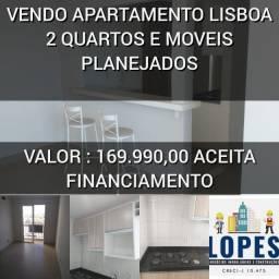 Vendo apartamento Lisboa com 2 quartos e móveis planejados