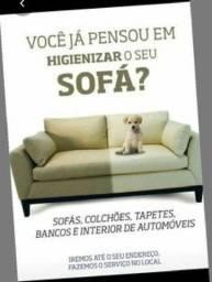 Higienização de sofás e tapetes a seco