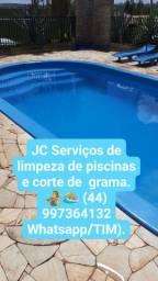 JC Serviços de limpeza de piscinas  e corte de grama.