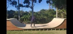 Pista de skate/Mini-Ramp de madeira