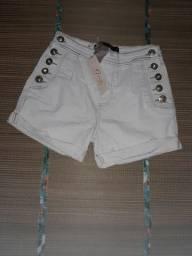 Short jeans com lycra tam 42/44