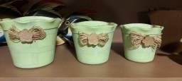 Título do anúncio: Trio de vasinhos para parede