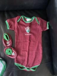 Uniformes do fluminense - recém nascido, 1 ano e 2 anos