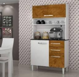 Armário Kit Cozinha de Madeira Com 3 Portas e 2 Gavetas  ENTREGA RÁPIDA!!!