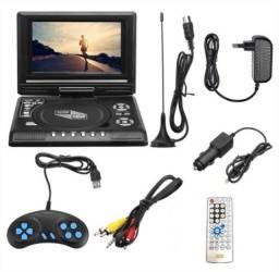 "DVD Player Portátil 7.8"" HD Automotivo/Domiciliar"