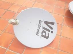 Antena Via Embratel semi nova