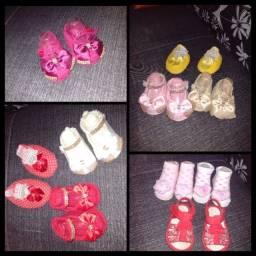 Lotinho sapatinhos 0 a 5 meses