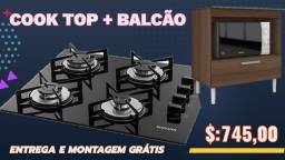 Cooktop Suggar + Balcão Novo Entregamos sem Taxas Goiânia e Aparecida
