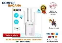 Repetidor Roteador 600 Mbps 4 Antenas Wireless