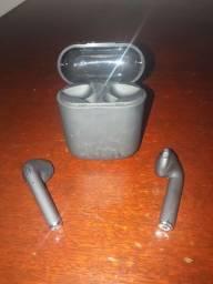 Fone Bluetooth I7 mini preto fosco