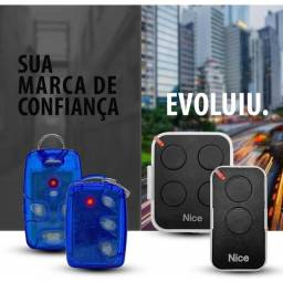 Título do anúncio: Controle remoto nice 2 tecla ou 4 preto ou linear 3 ou 4 teclas novo