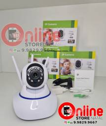 Câmera Ip 3 Antenas Wifi Wireless Hd Visão Noturna áudio e baba eletrônica <br>