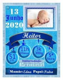 Título do anúncio: Quadro personalizado de nascimento em MDF