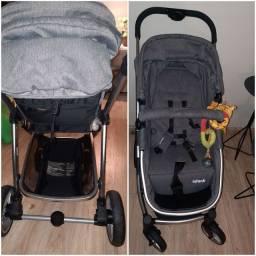 Título do anúncio: Carrinho de bebê + cadeira de carro